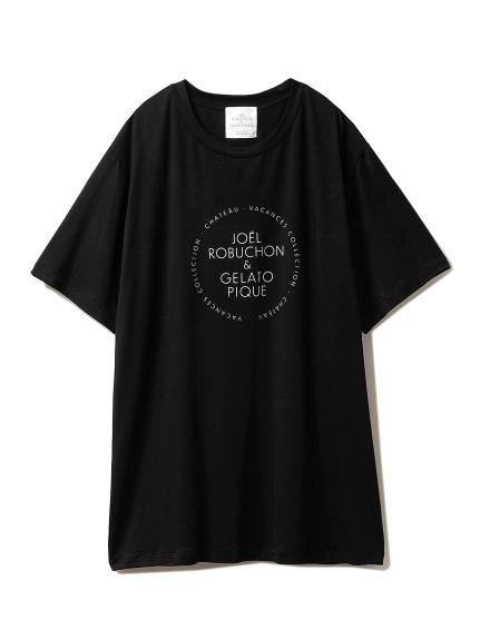 【Joel Robuchon & gelato pique】HOMME シルクMIX Tシャツ(BLK-M)