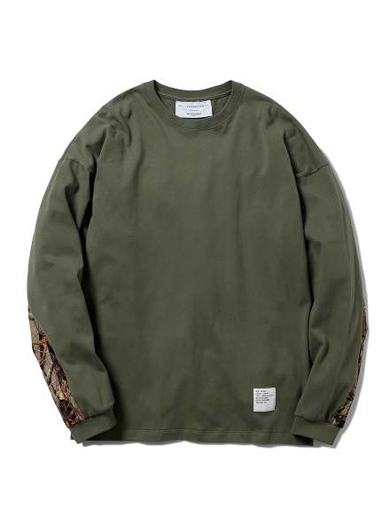 【MISTERGENTLEMAN×HOMME】SLEEVE SWITCHED L/S TEE(OLV-M)