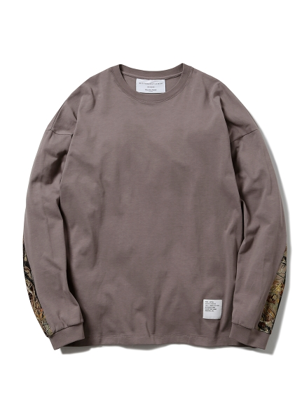 【MISTERGENTLEMAN×HOMME】SLEEVE SWITCHED L/S TEE(BEG-M)