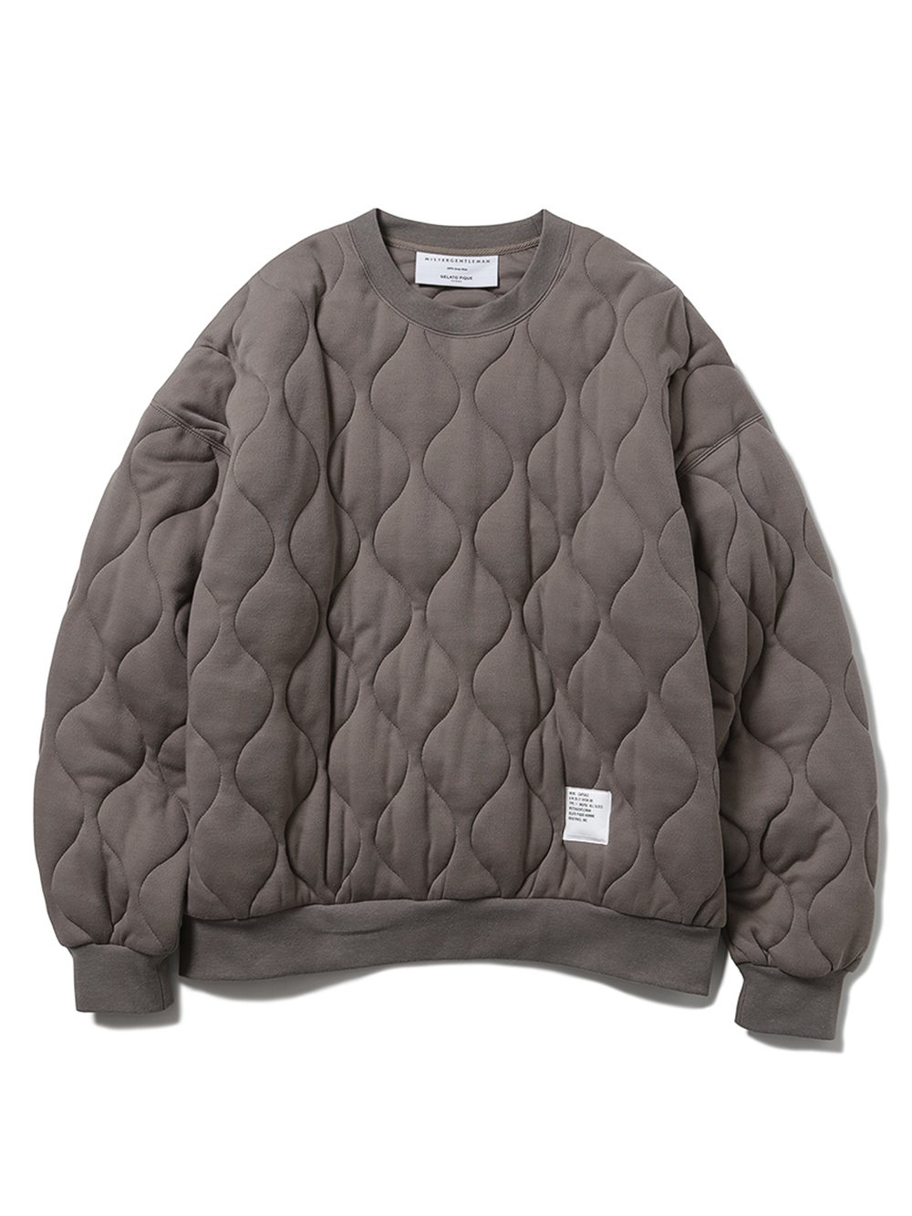 【MISTERGENTLEMAN×HOMME】QUILTED PULLOVER(BEG-M)