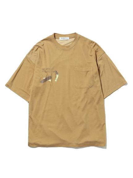 【GELATO PIQUE HOMME】ワンポイントTシャツ(OLV-M)