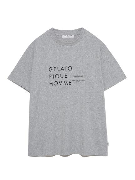 【GELATO PIQUE HOMME】オーガニックコットンロゴTシャツ(GRY-M)
