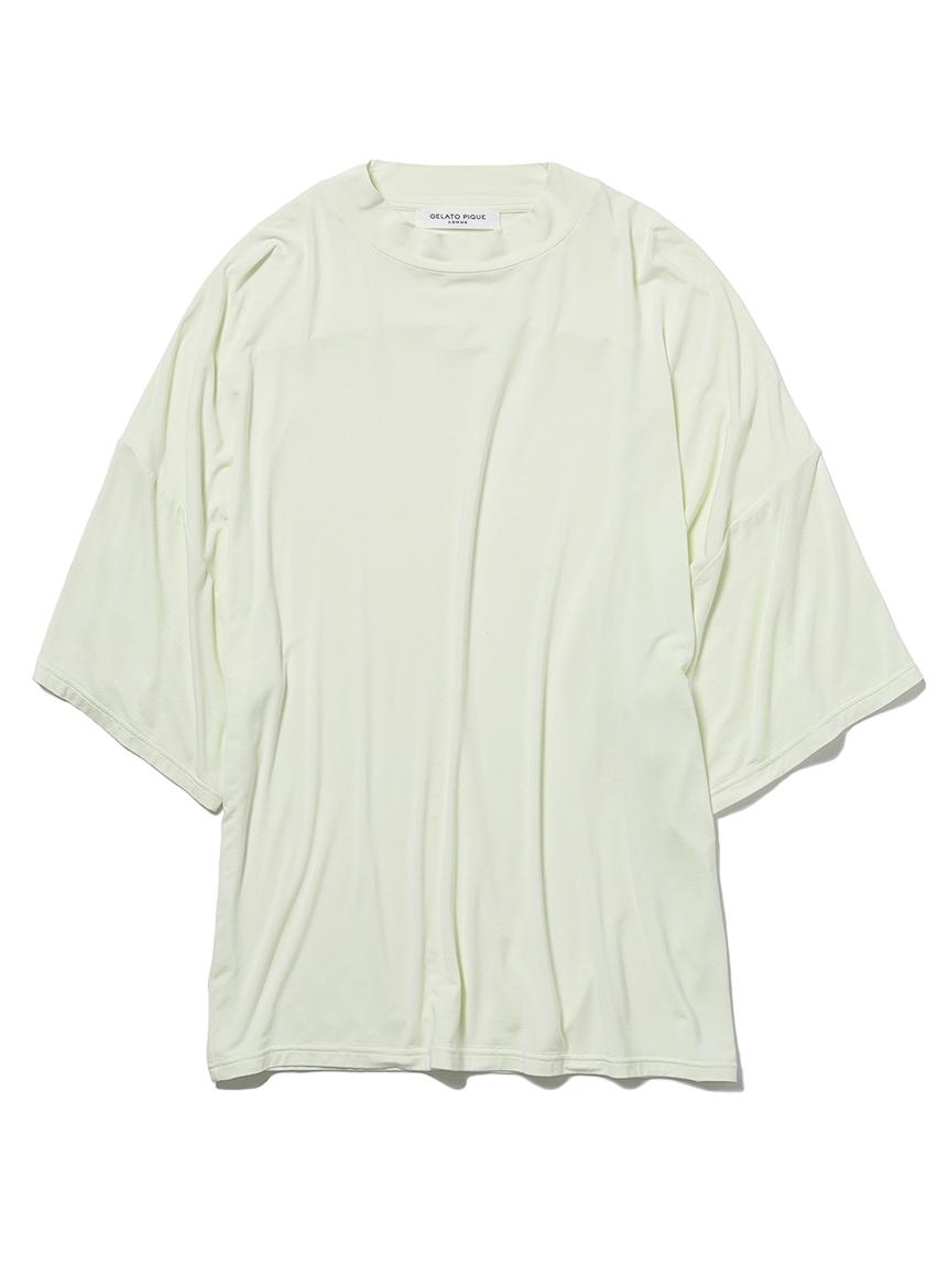 【GELATO PIQUE HOMME】レーヨンシルクTシャツ(YEL-M)