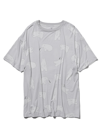 【COOL FAIR】 HOMME シロクマモチーフTシャツ(GRY-M)