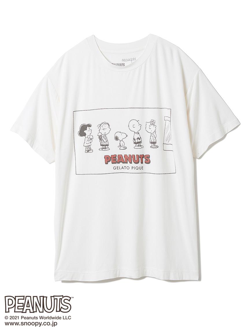 【PEANUTS】 HOMME ワンポイントTシャツ(OWHT-M)