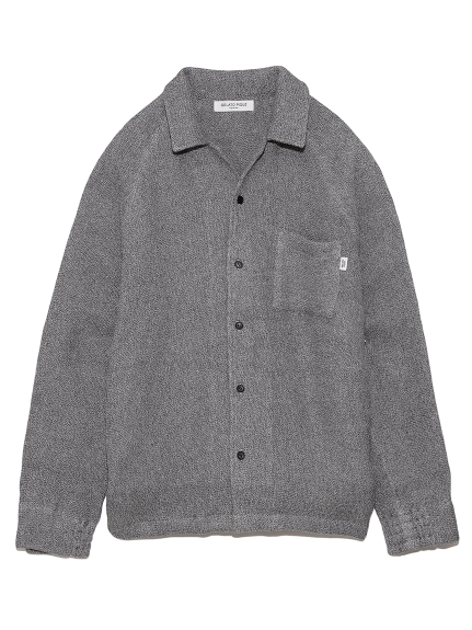 【GELATO PIQUE HOMME】 タオルパジャマシャツ(GRY-M)