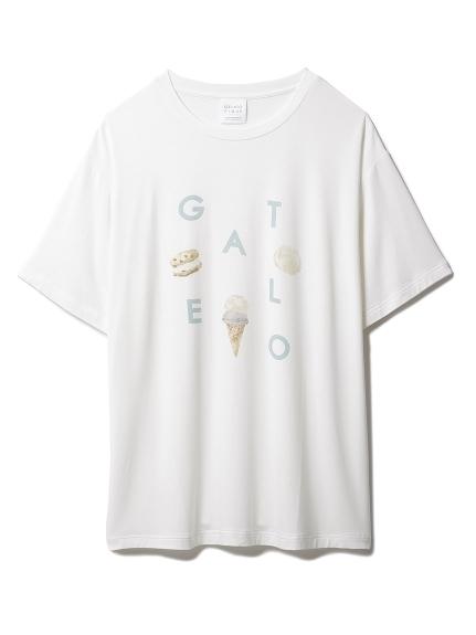 【GELATO PIQUE HOMME】 アイスロゴワンポイントTシャツ