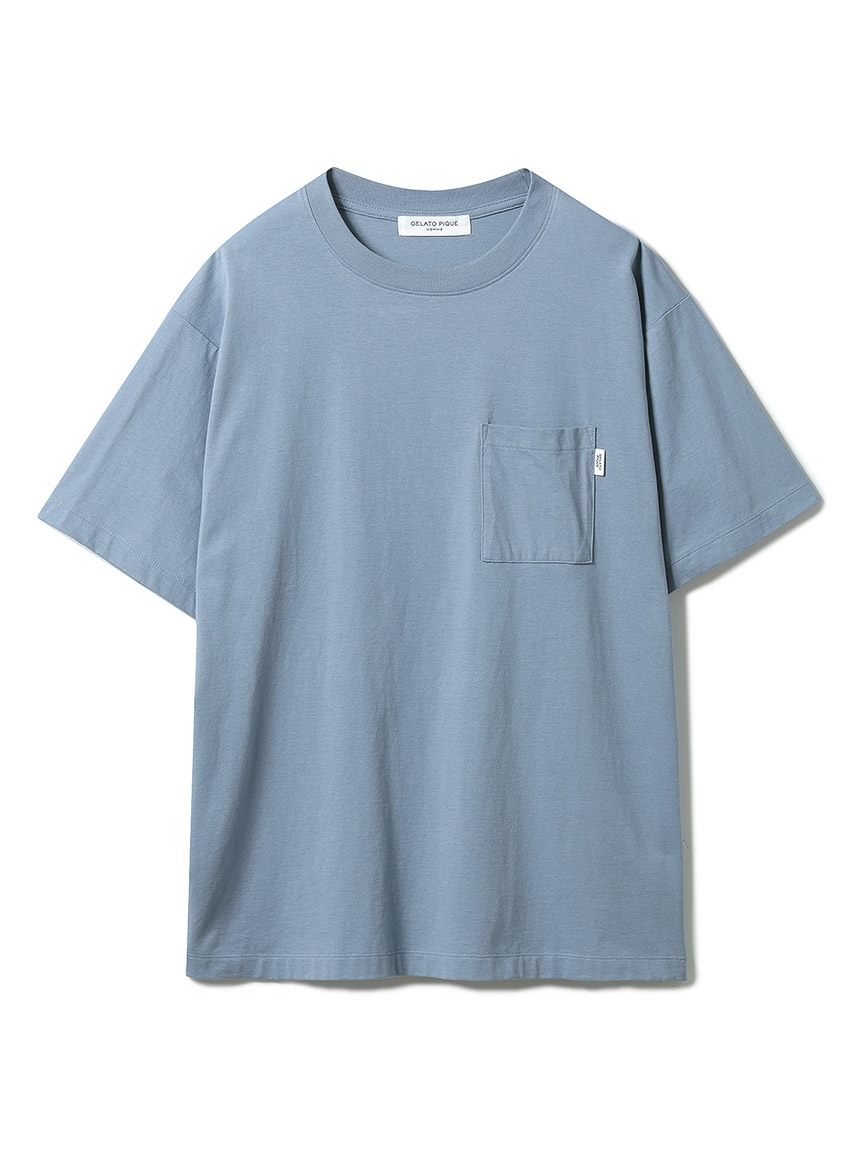 【GELATO PIQUE HOMME】 オーガニックコットンTシャツ(BLU-M)