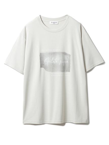 【GELATO PIQUE HOMME】 ワンポイントレーヨンロゴTシャツ(BEG-M)