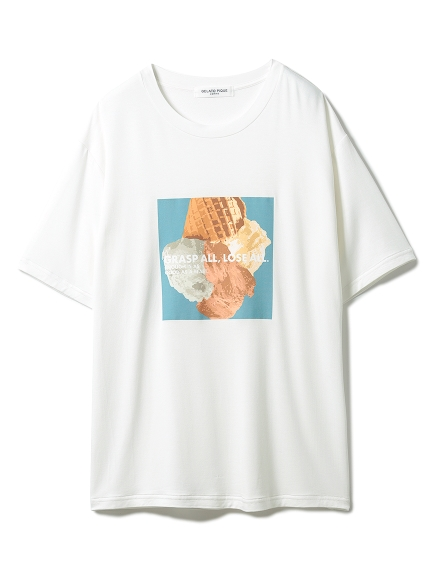 【GELATO PIQUE HOMME】 エコベロワンポイントTシャツ