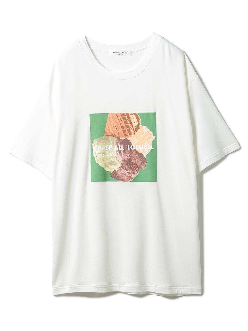 【GELATO PIQUE HOMME】 エコベロワンポイントTシャツ(GRN-M)