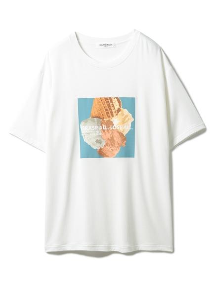 【GELATO PIQUE HOMME】 エコベロワンポイントTシャツ(BLU-M)