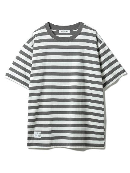 【GELATO PIQUE HOMME】 オーガニックコットンボーダーTシャツ