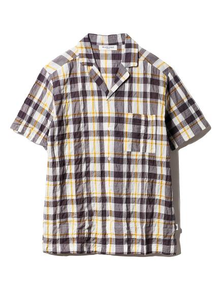 【GELATOPIQUEHOMME】チェックシャツ(GRYxYEL-M)
