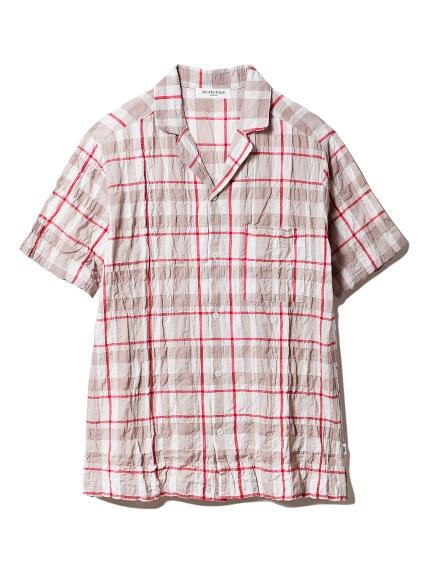 【GELATOPIQUEHOMME】チェックシャツ(BEGxRED-M)