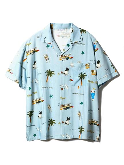 【GELATOPIQUEHOMME】アロハシャツ(BLU-M)