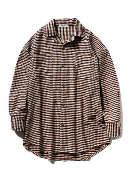 【GELATO PIQUE HOMME】ネルシャツ(BEG-M)