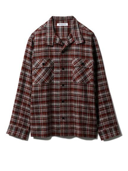 【GELATO PIQUE HOMME】チェックシャツ(BRW-M)
