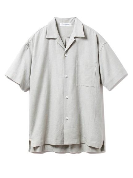 【GELATO PIQUE HOMME】リネンミックス半袖シャツ