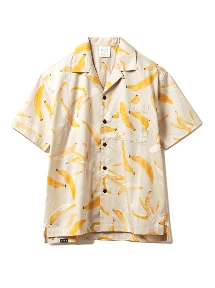 【GELATO PIQUE HOMME】フルーツモチーフシャツ(BEG-M)