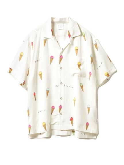 【GELATO PIQUE HOMME】アイスモチーフシャツ(OWHT-M)