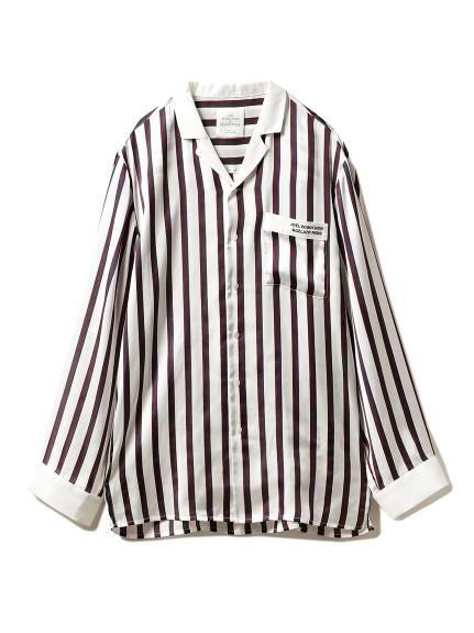 【Joel Robuchon & gelato pique】HOMME ストライプサテンシャツ