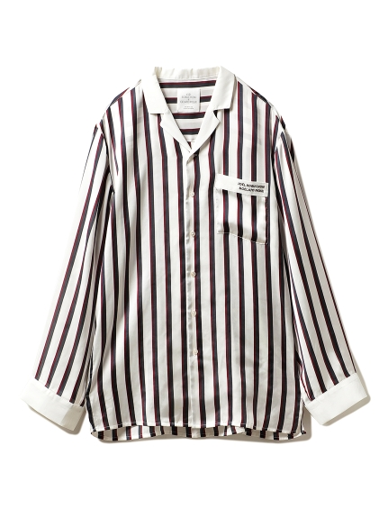 【Joel Robuchon & gelato pique】HOMME ストライプサテンシャツ(TRICOL-M)