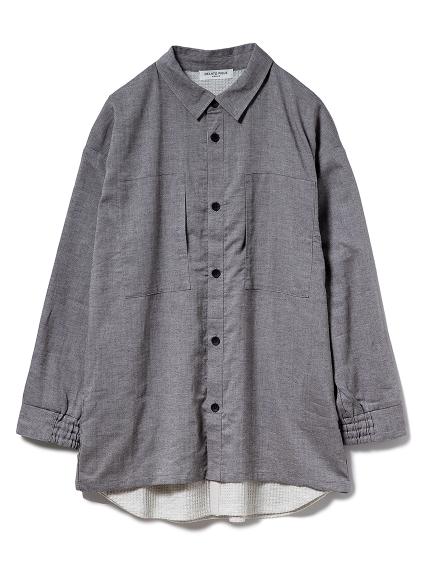 【GELATO PIQUE HOMME】ドッキングシャツ(CGRY-M)