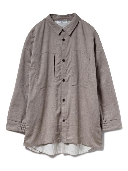 【GELATO PIQUE HOMME】ドッキングシャツ(BRW-M)