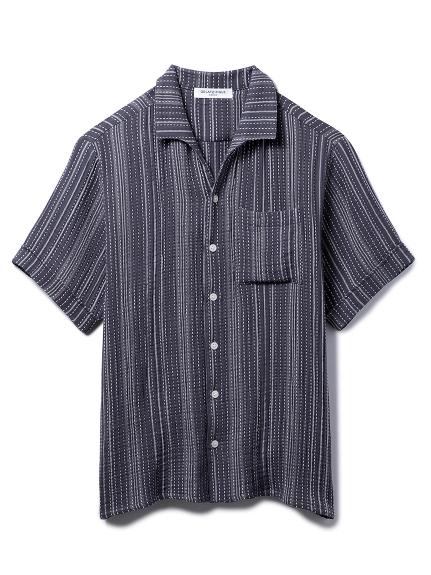 【GELATO PIQUE HOMME】コットンシャツ(CGRY-M)