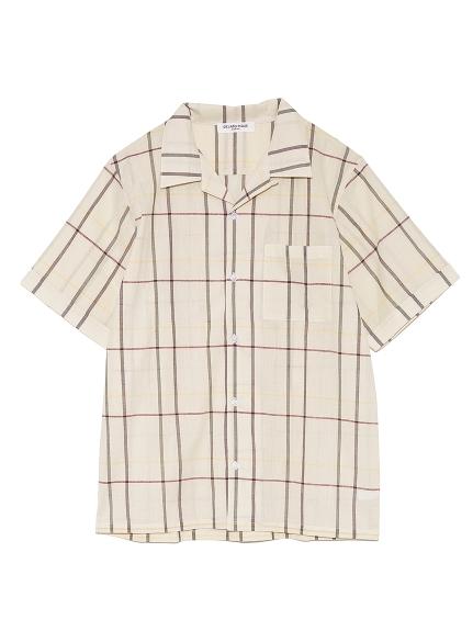 【GELATO PIQUE HOMME】マドラスチェックシャツ(BEG-M)