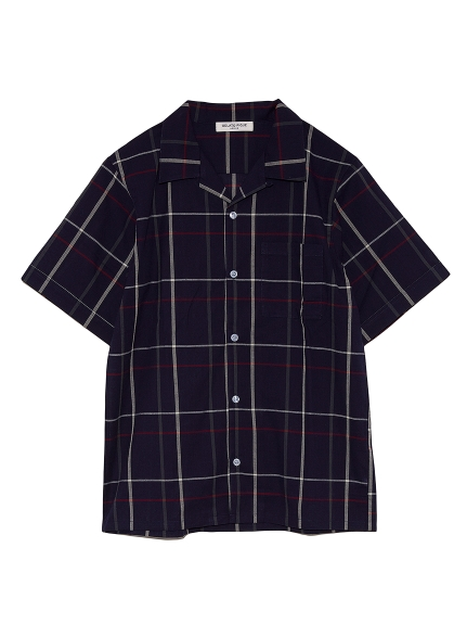 【GELATO PIQUE HOMME】マドラスチェックシャツ(NVY-M)