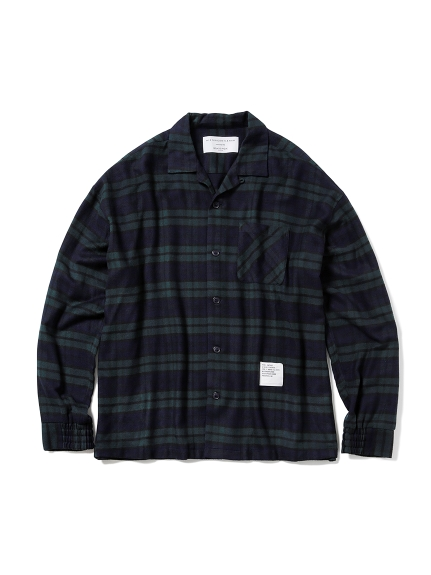 【MISTERGENTLEMAN×HOMME】FLANNNEL BLACKWATCH CAMP COLLAR LOUNGE SHIRT