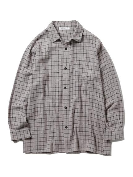 【GELATO PIQUE HOMME】ネルチェックシャツ(GRY-M)