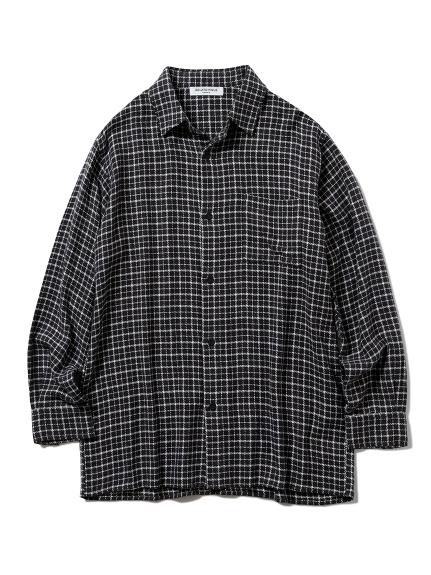 【GELATO PIQUE HOMME】ネルチェックシャツ(CGRY-M)