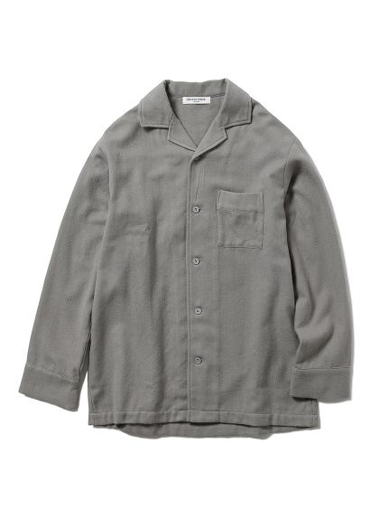 【GELATO PIQUE HOMME】ヘリンボーンシャツ(GRY-M)