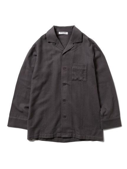 【GELATO PIQUE HOMME】ヘリンボーンシャツ(CGRY-M)
