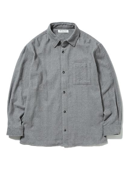 【GELATO PIQUE HOMME】ガーゼパイルシャツ(GRY-M)