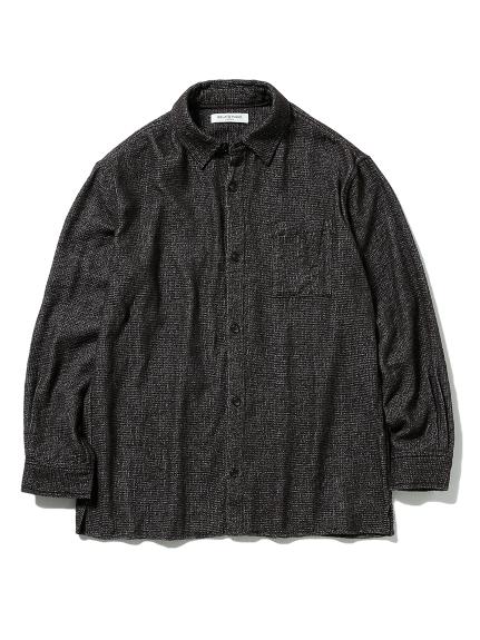 【GELATO PIQUE HOMME】ガーゼパイルシャツ(DGRY-M)