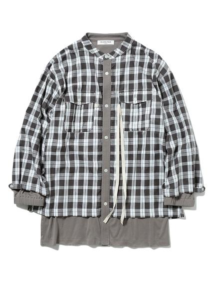 【GELATO PIQUE HOMME】チェックドッキングシャツ(CGRY-M)