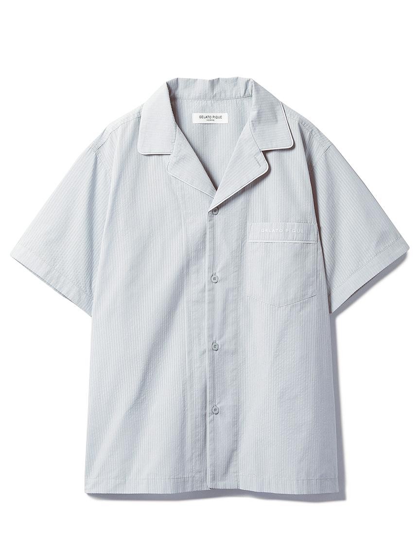 【オフィシャルオンラインストア限定】【HOMME】クールMAXシャツ(BLU-M)