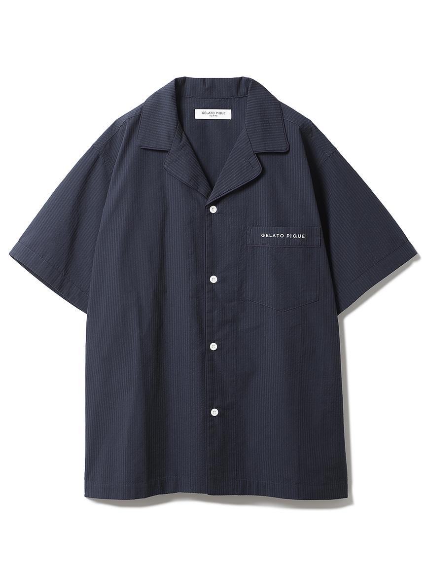 【オフィシャルオンラインストア限定】【HOMME】クールMAXシャツ(NVY-M)