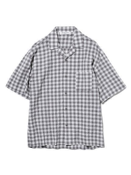 【GELATO PIQUE HOMME】オーガニックコットンギンガムチェックシャツ