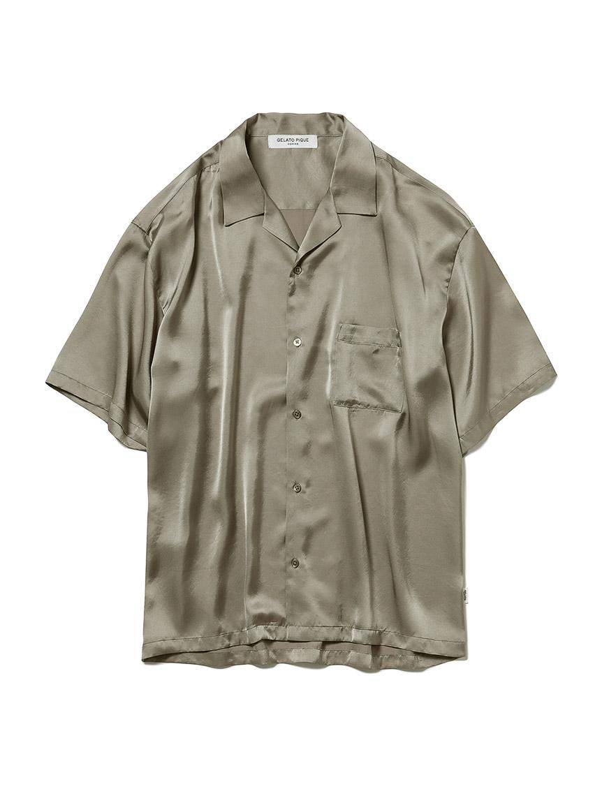 【GELATO PIQUE HOMME】ソアロンサテンシャツ(KKI-M)