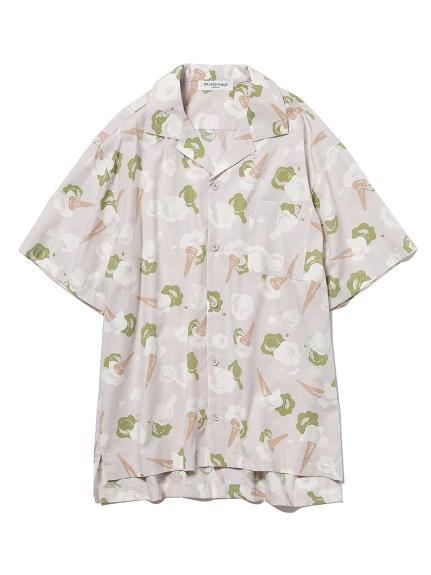 【GELATO PIQUE HOMME】アイスモチーフシャツ(GRY-M)