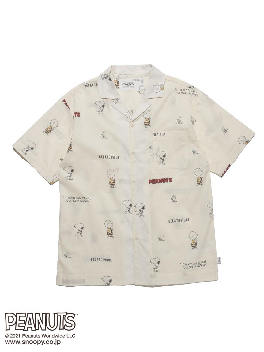 【PEANUTS】 HOMME モノグラムシャツ(OWHT-M)