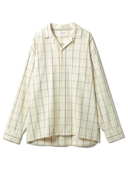 【GELATO PIQUE HOMME】 コットンチェックシャツ(YEL-M)