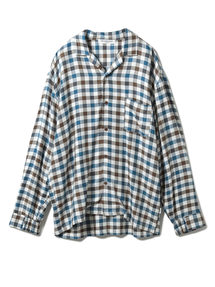 【GELATO PIQUE HOMME】 レーヨンネルガンクラブチェックシャツ