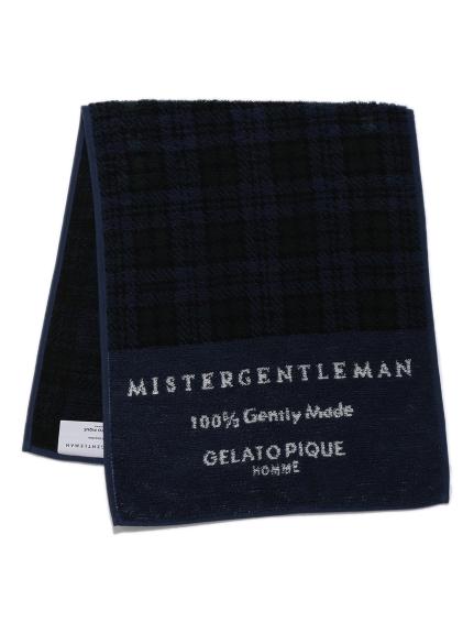 【MISTERGENTLEMAN×HOMME】BLACKWATCH FACE TOWEL(NVY-F)