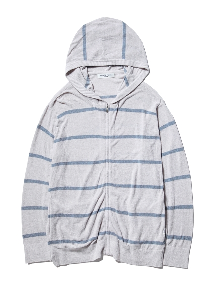 【GELATO PIQUE HOMME】'スムーズィーライト' COOLパーカ(GRY-M)